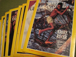 Original Vintage 1991 Lot of 5 NATIONAL GEOGRAPHIC Magazines - $14.43