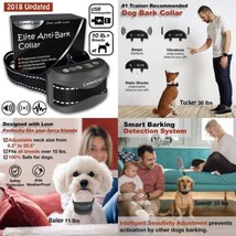 Elite Anti Bark Dog Collar with Static Vibration Correction, USB...  - $50.26