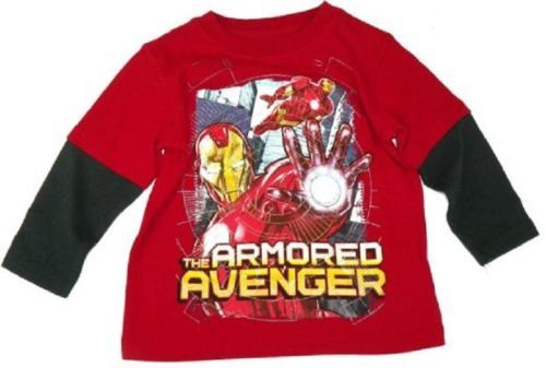 Toddler Boy's Iron Man Tee Shirt The Armored Avengers T-Shirt NEW Licensed