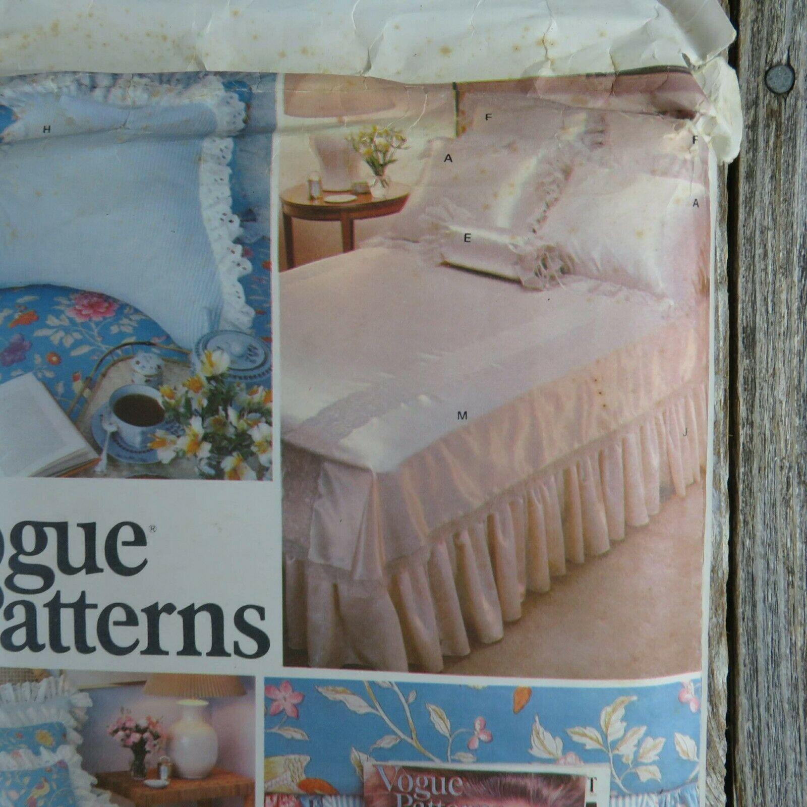 Vintage Vogue Bedspread Linen Sewing Pattern Bedroom Sham Pillow Bed Covers image 3