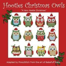 Hooties Christmas Owls minis cross stitch chart Pinoy Stitch - $13.50