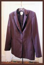 Anne Klein Sz 8 M Brown Career Suit Jacket Blazer Womens Medium - $19.59