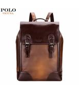 BDF Brown Vintage Luxury Unisex Travel Backpack Casual School Bag Hiking... - $61.48