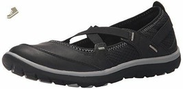 Clarks ARIA MARYJANE Womens Black 17024 Leather Slip On Comfort Shoes - $64.88