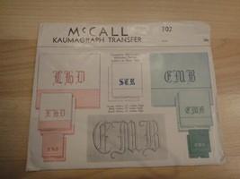 Vintage McCall Kaumagraph Transfer Old English Alphabet #702 Unused - $5.93