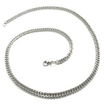 "Stainless Steel Double Link Curb Chain Men Necklace 7mm 35"" - $24.24"
