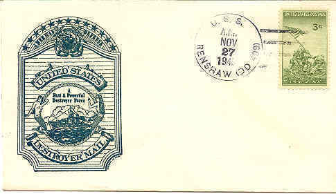 Iwo Jima  Stamp Navy Day October 1945 1st Day Cover - $10.00