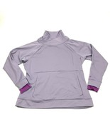 Champion Fleece Mock Turtleneck Sweater Women Size XL Violet Pullover Th... - $27.33