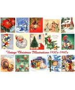 Holiday Scenes Vintage Christmas Images 15 Designs Digital Sheet  - £7.71 GBP