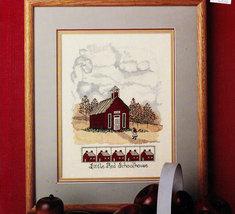 Cross Stitch Little Red Schoolhouse Leaflet 653 Shelia Upham - $3.00