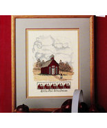 CROSS STITCH LITTLE RED SCHOOLHOUSE LEAFLET 653 Shelia Upham - $3.00