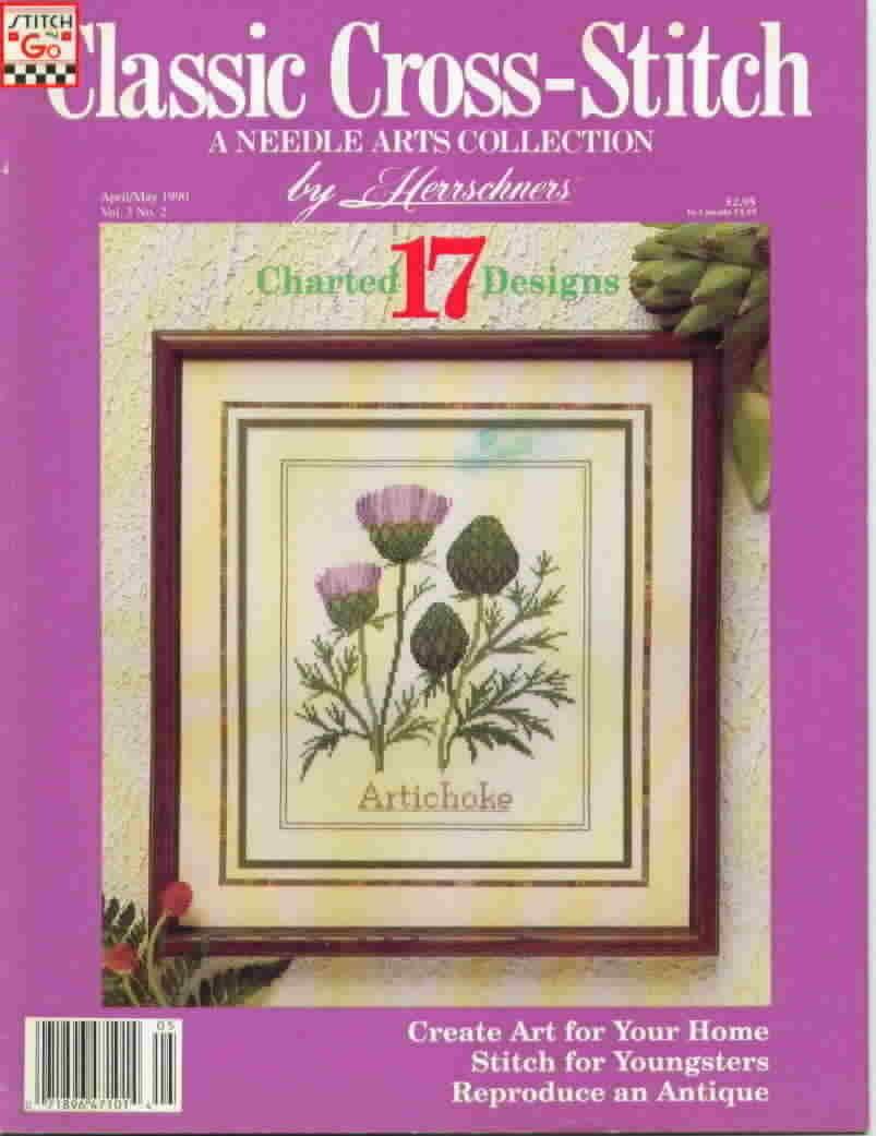 Classic cross stitch apr may 1990