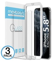 Apple iPhone XS & X Tempered Glass Screen Protector (3 Packs, Clear) 0.25mm - $15.81