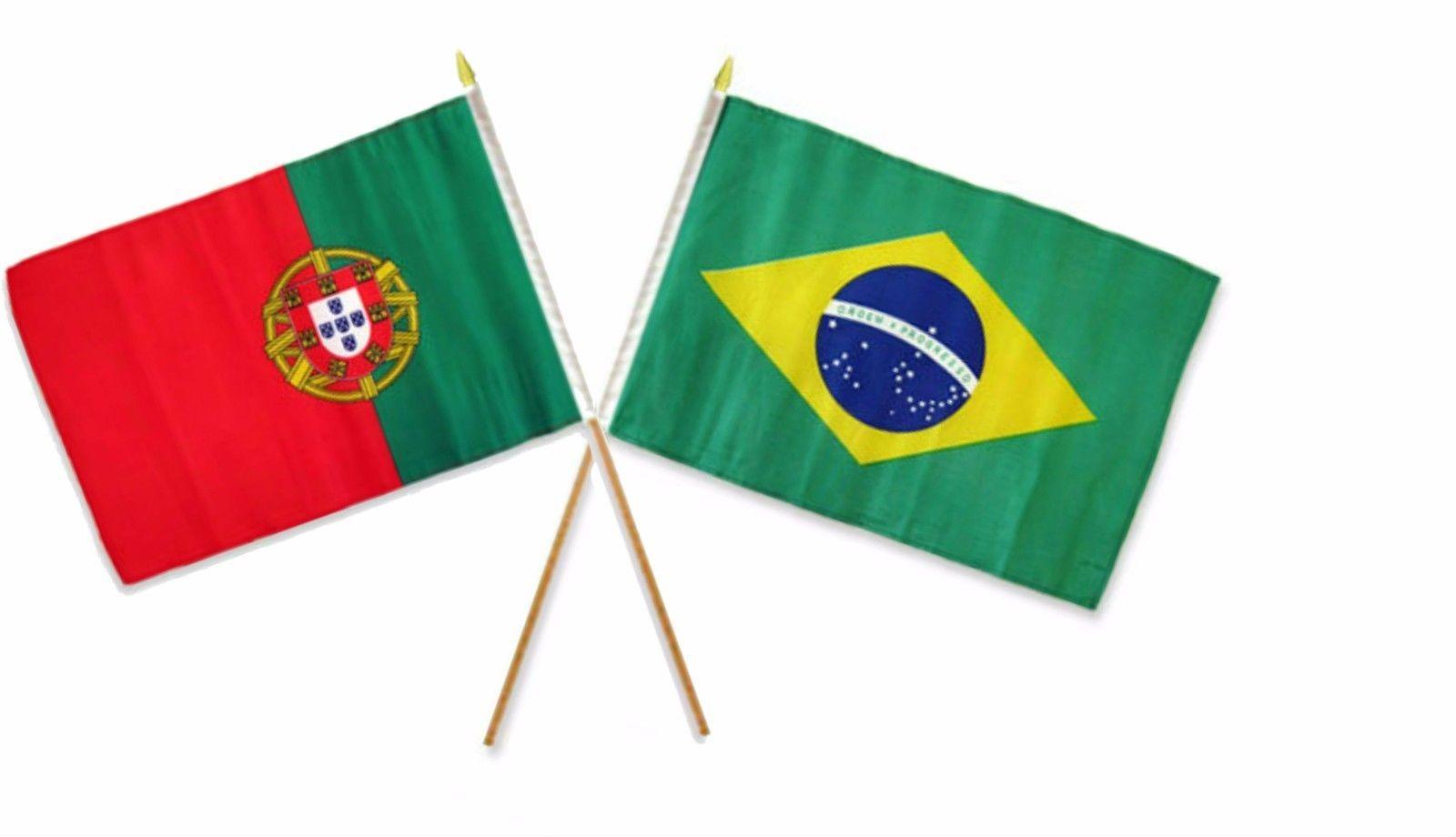 "Wholesale Lot of 6 Portugal 4/""x6/"" Desk Table Stick Flag"