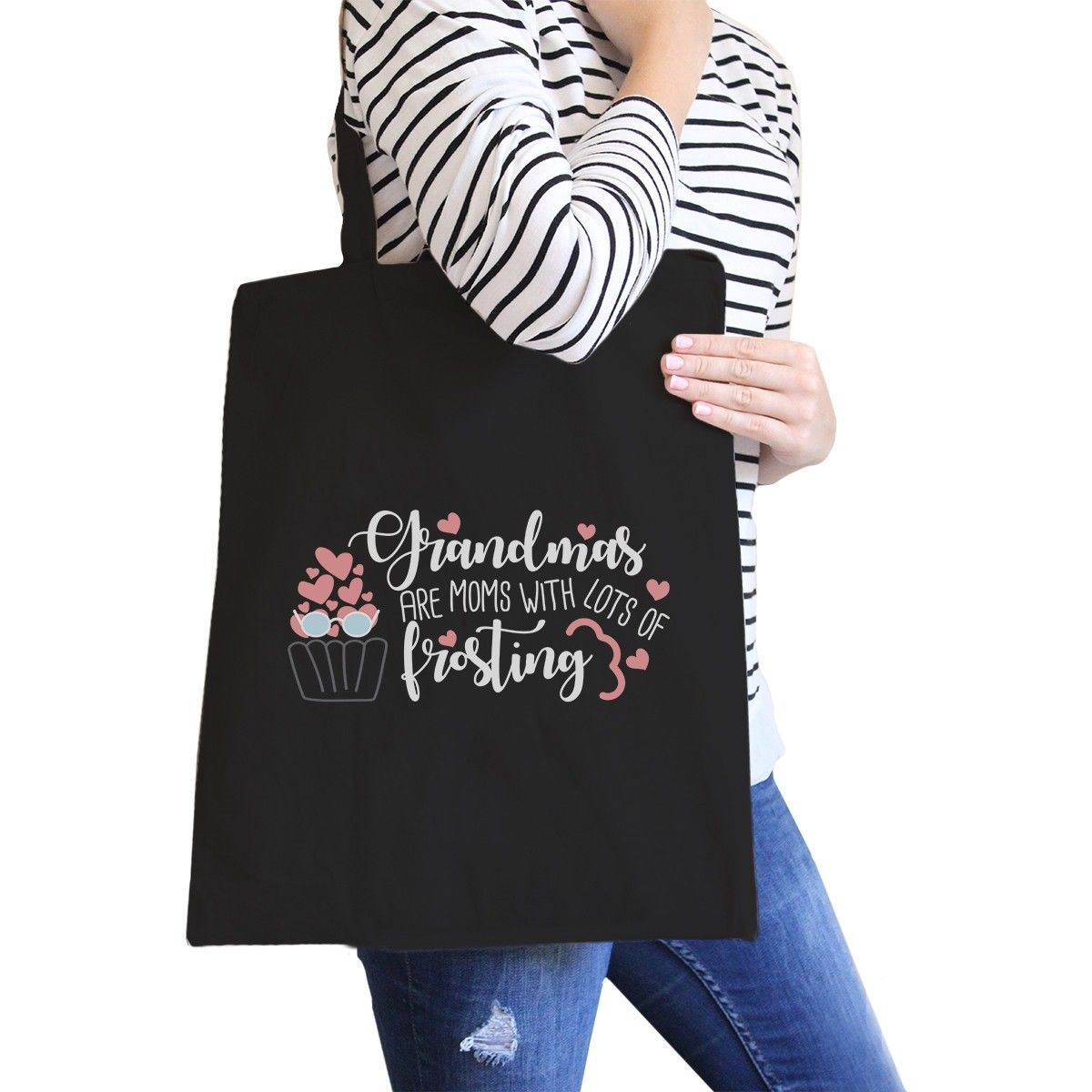 Primary image for Grandmas Are Moms Canvas Bag Unique Grandma Gifts For Mothers Day