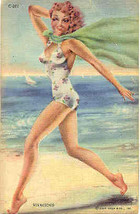 A Vivacious Bathing Beauty Vintage 1945 Post Card - $7.00