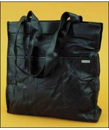 Black Lambskin Patchwork Leather Tote Organizer... - $27.00