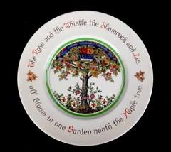 "Vintage Royal Doulton England Rose Thistle Shamrock Lis Maple Tree Plate 10 1/2"" - $20.27"
