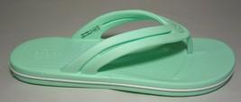 Crocs Size 9 CROCBAND FLIP Neo Mint Flip Flop Sandals New Women's Shoes - $68.31