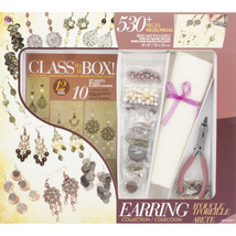 Jewelry Basics Class In A Box Kit-Gold & Copper Earrings - $27.42