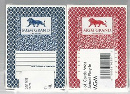 2 MGM GRAND Las Vegas Nevada Used Playing Cards - $12.86