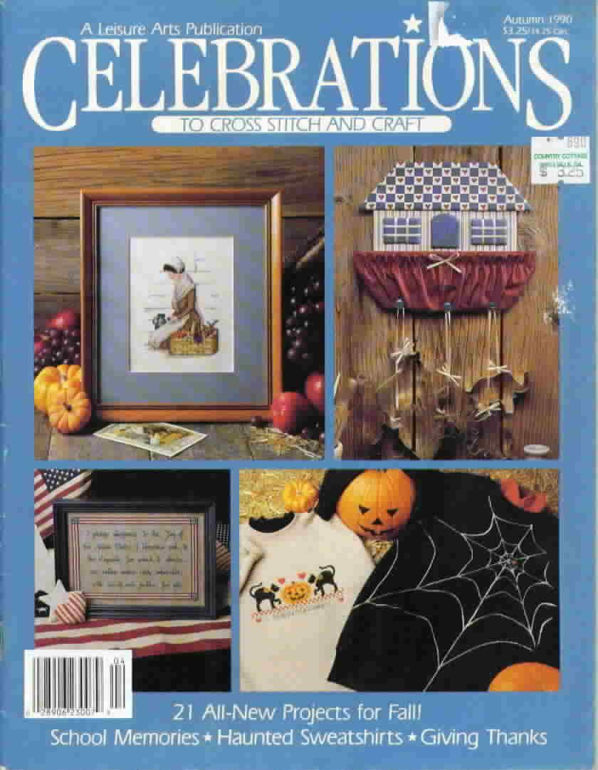 Celebrations to cross stitch and craft autumn 1990