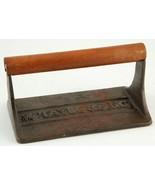 Taylor & Ng Cast Iron Bacon Press w Wood Handle 1978 Win Ng Designer - $14.99