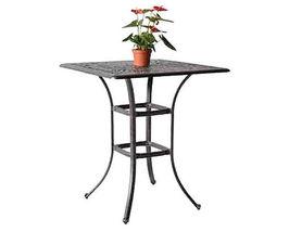 "Outdoor bar square table 36"" Elisabeth patio pool side cast aluminum furniture image 3"