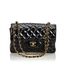 Pre-loved Chanel Black Classic Small Patent Leather Double Sided Bag France - $2,182.21