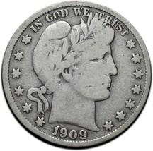 1909S Silver Barber Half Dollar Coin Lot A 342