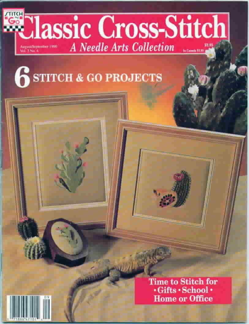 Classic cross stitch aug sept 1990