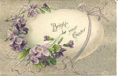 Bright Be Your Easter vintage 1908 Post Card