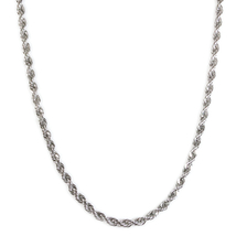 "Stainless Steel Rope Chain Necklace 3mm 22"" - $12.49"