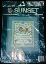 Sunset BabyHugs Precious Keepsakes Sleepy Time Prayer Counted Cross Stitch Kit  - $19.95