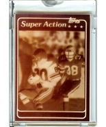1981 topps seattle seahawks steve largent 4 color film positive football... - $299.99