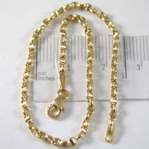 Armband Gelbgold oder Weiß 750 - 18K, 19 cm Marinara Steg Made in Italien - $188.62