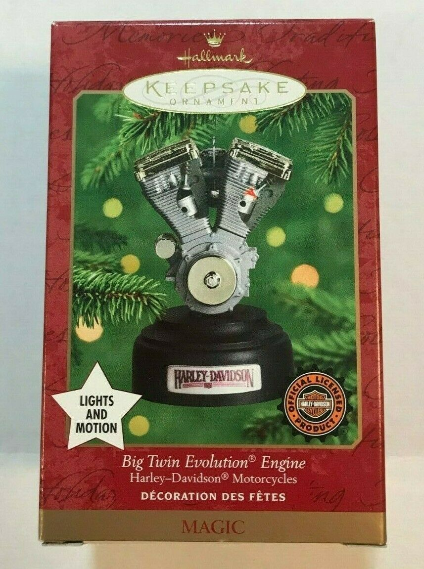 Primary image for Hallmark Keepsake HARLEY DAVDISON Big Twin Evolution V2 Engine 2000 Ornament