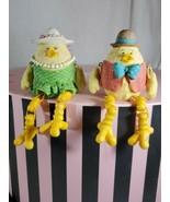 2 Shelf Sitters Sitting Dangle legs chicks chicken girl boy husband wife... - $19.80