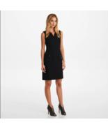 Karl Lagerfeld Paris Women's Dress Size 14 Black Tweed Shift Sleeveless ... - $89.09