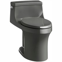 KOHLER Elongated Toilet 1-Piece 1.28 GPF Single Flush Floor Mount Thunder Grey - $997.28