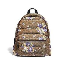Coach Signature Floral Quilted Charlie Backpack Bag - $152.99