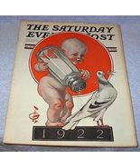 Saturday Evening Post December 31, 1921 Leyendecker Magazine Rockwell - $70.00