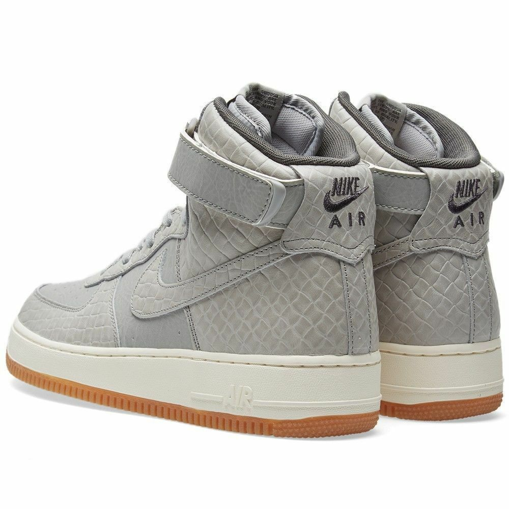 Nike Air Force 1 Hi PRM Premium Womens Size 6 Shoe Wolf Grey 654440 008
