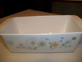 1 Corning Ware Loaf Pan P-315-B,   Floral Bouquet 3rd Edition  Print - $24.99