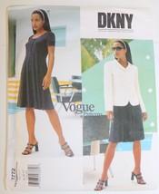 VOGUE 1772 Designer DKNY Jacket Knit Dress Sewing Pattern ~ 8-10-12 ~ NEW - $16.82