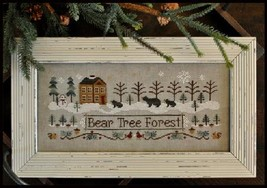 Bear Tree Forest winter holiday cross stitch chart Little House Needleworks - $7.20