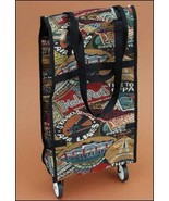 Tapestry Travel Print Rolling Tote Organizer 22... - $20.00
