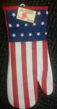"Fabric Printed 13"" Jumbo Oven Mitt, USA, AMERICAN FLAG, PATRIOTIC by BH - $7.91"