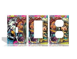 Monster High Frankie Stein Light Switch Covers Home Decor Outlet - $6.89+