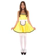 Adult Women's French Maid Uniform Costume   Yellow Cosplay Costume - $23.85
